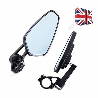 2pcs Motorcycle Bar End Rear View Side Mirrors Mirror Black 7/8'' For Yamaha UK