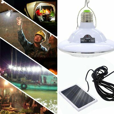 Rechargeable LED Light Bulb Solar Powered Remote Control Emergency Light Lamp MP