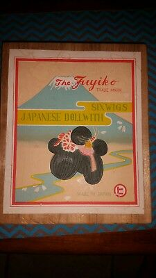 "Vintage ""The Fuyiko"" Japanese Doll with Six Wigs in Original Box"