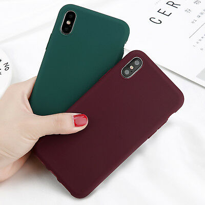 Shockproof Case  Soft TPU Silicone Thin Cover For iPhone XR XS Max X 6s 7 Plus 5