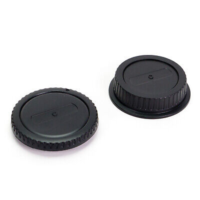 Camera Body Cap & Rear Lens Cover for Canon EOS EF EF-S Mount DSLR 5D 6D 7D 700D