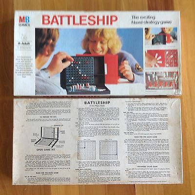 Milton Bradley Battleship Board Game Vintage Version Complete