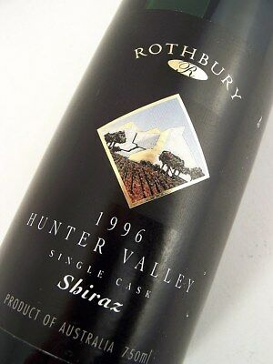 1996 ROTHBURY ESTATE Single Cask Shiraz A Isle of Wine