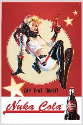"FALLOUT 4 POSTER ""LICENSED"" BRAND NEW ""NUKA COLA"" SIZE 61cm X 91.5cm CROUCHING"