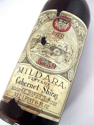 1970 MILDARA Wines Bin 39 Cabernet Shiraz Isle of Wine