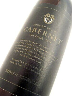 1974 SOUTHERN VALES Wines Private Bin 27 Cabernet Blend Isle of Wine