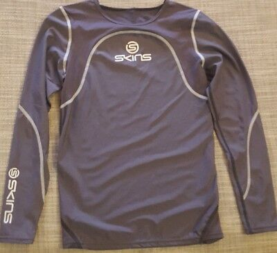 NEW Skins CROM Compression Long Sleeve Top Grey Size Medium RRP $150