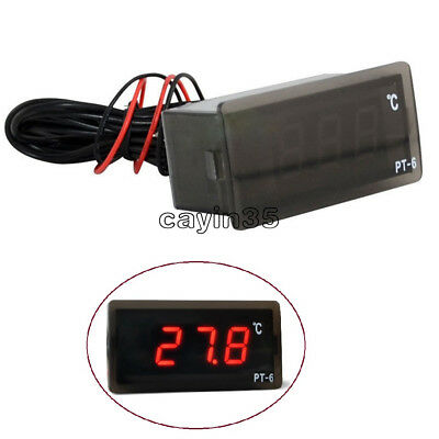220V -50 ℃ ~ + 110 ℃ Digital Thermometer Temperature Meter Aquarium +Sensor UK