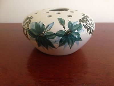 A lovely Jersey pottery flower bowl painted with Blue flowers