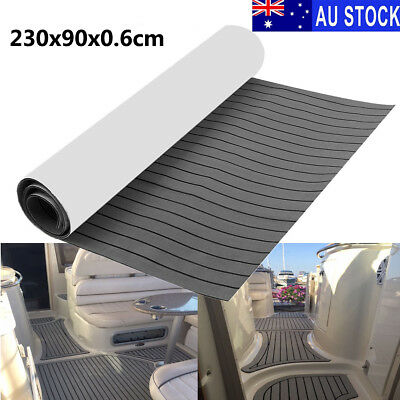 AU 230x90cm Marine Floor Foam Boat Yacht Decking Sheet Self-Adhesive Mat Pad