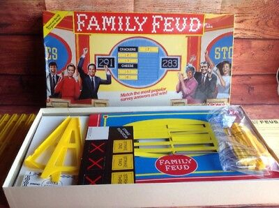 FAMILY FEUD corner 1989  RETRO BOARD GAME Complete Vgc