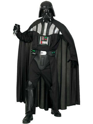 Adult Licensed Star Wars Deluxe Darth Vader Fancy Dress Costume & Mask Mens New