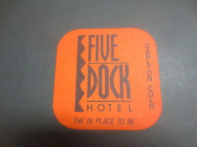 1 only  CARLTON COLD / FIVE DOCKS HOTEL Special Issued  BEER COASTER