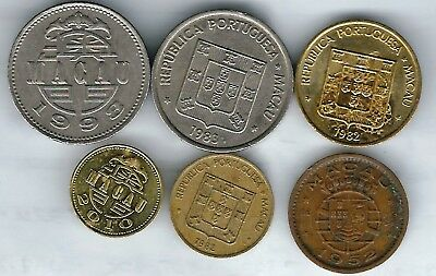 6 different world coins from MACAO