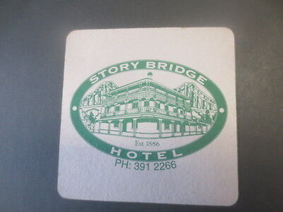 1 only BOAGS BREWERY / STORY BRIDGE HOTEL Special Issued  BEER COASTER