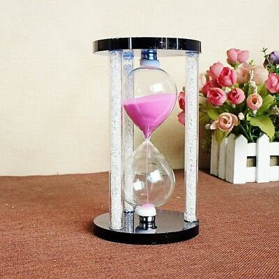 Exquisite Creative Gift Pink Crystal Hourglass  SL224220