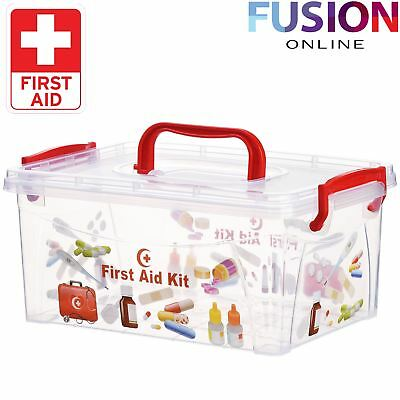 First Aid Kit Storage Box Health Pill Medical Medicine Drug Bottle Emergency
