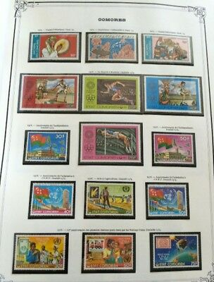 VENTE ÉTÉ 2# LOT 510: collection timbres MNH Cameroun & Comores dt blocs 1 album