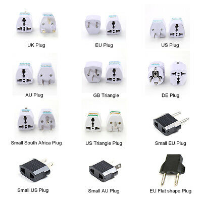 EU UK AU to US USA AC Universal Adapter Power Plug Travel Wall Converter Euro