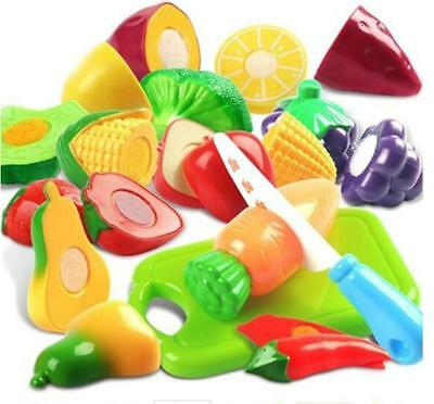 LeadingStar Plastic Cutting Fruits and Vegetables Set Pretend Play Toys for...