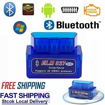 Super Mini Elm327 Bluetooth Obd2 Scanner Diagnostic Tool For Holden Bmw Vw Audi