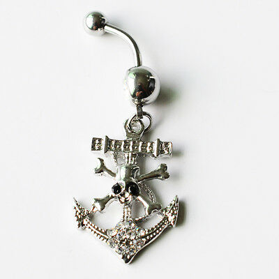 Anchor & Skull  STYLE   Belly Navel  Ring    Piercing Navel Body Jewelry  1 pc