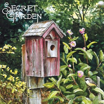 Secret Garden 2018 Wall Calendar by Browntrout, NEW,  Postage Included
