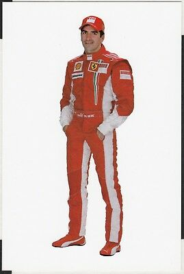 Marc Gene Original Scuderia Ferrari F2007 2007 Factory Driver Post Card 3026/07
