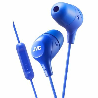 JVC HAFX38MA Marshmallow Custom Fit In-Ear Headphones with Remote & Mic - Blue