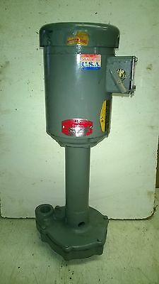 Gusher Coolant Pump, Baldor 1/2 HP 3 Phase 208-230/460 Model TL-L