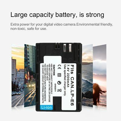 LP-E6/E12/E17 Battery Pack for Canon EOS 5D Mark II 7D 60D HK PM