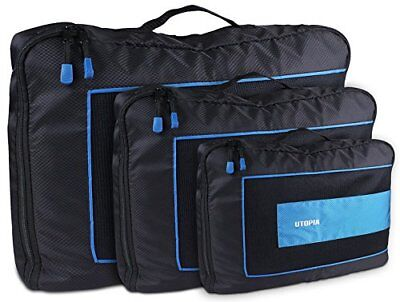Durable Packing Cubes 3 Piece Set - Travel Luggage Packing - by Utopia Home