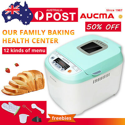 AUCMA Automatic Bread Maker Jam Yogurt Healthier Homemade DIY Oven 12Functions