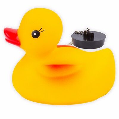 YELLOW RUBBER BATH DUCK PLUG Kids Baby Toddlers Floating Bathtime Water Fun Toy