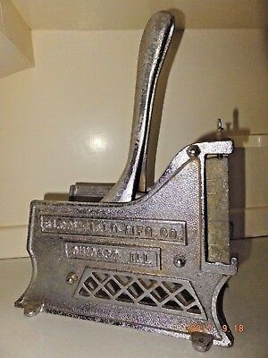 Vintage BLOOMFIELD MFG CO Cast Iron French Fry Cutter Restaurant Quality