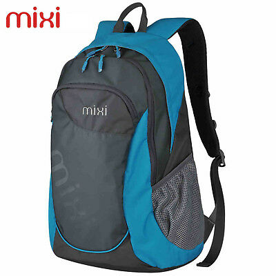 "Mixi 20"" Blue Unisex Backpack Satchel Laptop Pack Travel Bag Hiking Sports Bag"