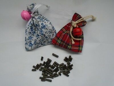 Cat Toy with Bell & Catnip Pellets inTartan & Floral Designs Strong Catnip Safe