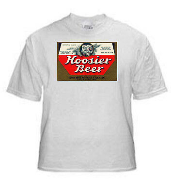South Bend Brewing Hoosier Beer Label T Shirt Size Small Thru Xxxlarge