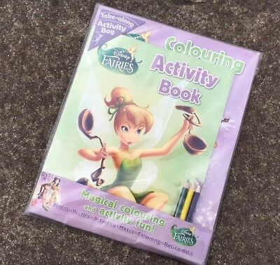 DISNEY FAIRIES COLOURING & ACTIVITY PACK Childrens Adventure Book (2012) *NEW*