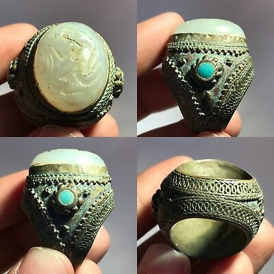 Old Wonderful Unique AGATE STONE WONDERFUL RING