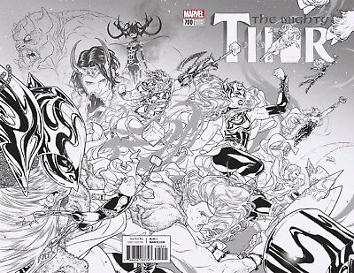 Mighty Thor 700 Russell Dauterman B&w 1:100 Variant Legacy Death Nm