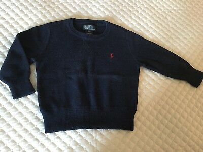 Toddler Boys RALPH LAUREN Blue Long Sleeve Shirt Size 2T