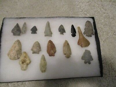 Lot of 15 Arrowheads - No idea where they are from