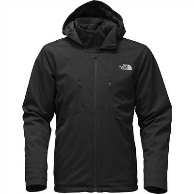 The North Face Apex Elevation Hooded Softshell Jacket - Men's Large - BLACK NEW!