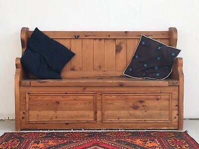 Antique Style Pine Pew / Bench - Lots of Rustic Character