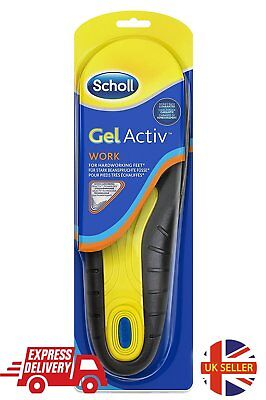 Scholl Gel Active Work Insoles For Men Work Free Heel Impact Cushioning Free PP