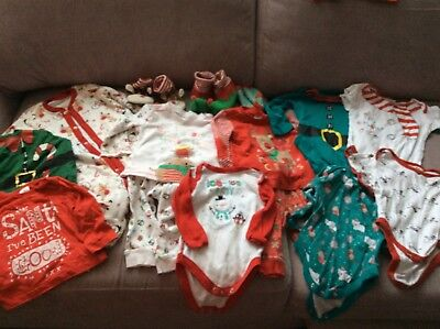 Christmas Themed Baby Clothes Bundle
