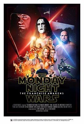 Monday Night Wars Retro Wrestling Poster A4 8x11 WWF Star Wars Style Sting