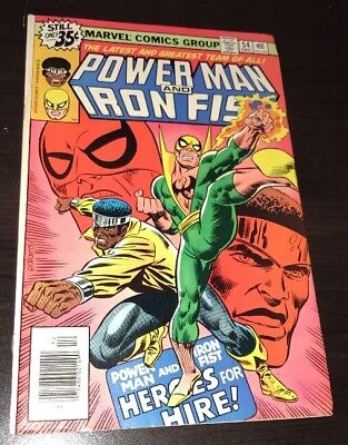 POWER MAN AND IRON FIST #54 1st App Heroes For Hire Marvel Bronze Age KEY Comic