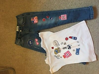 Mayoral Jeans And Top Set Girls Age Size 6 Years - Lovely Items